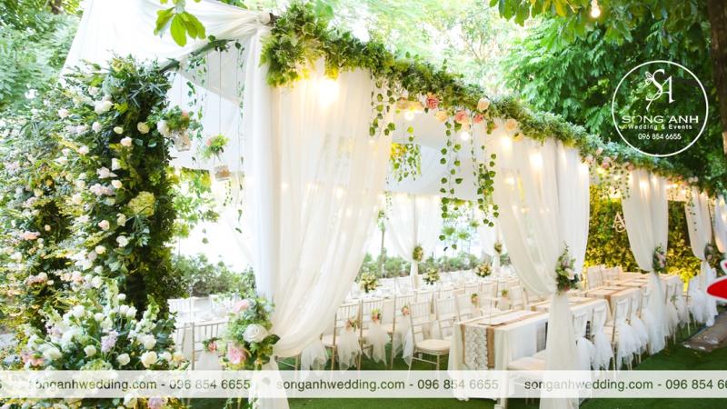 Top 10 rạp cưới tư gia đẹp nhất năm 2020