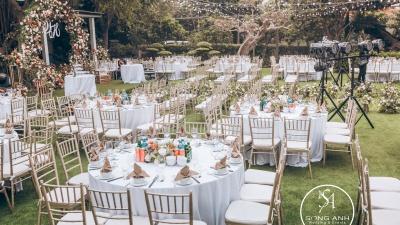 Trang trí tiệc cưới ngoài trời  - Trend mới của giới trẻ