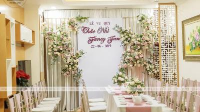 Vu quy tại chung cư - trang trí tiệc cưới bất chấp không gian khiêm tốn