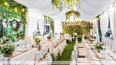 Trang trí sân khấu tiệc cưới - không thể bỏ qua