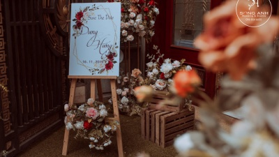 Những màu hoa lụa trang trí tiệc cưới  chất phát ngất tại Hà Nội