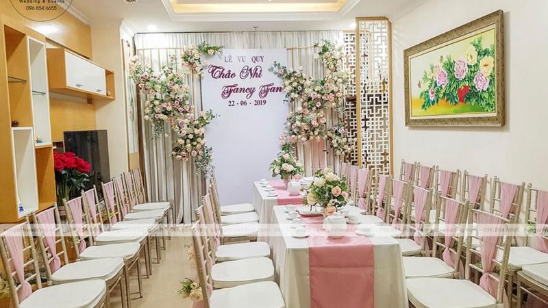 Những phương án trang trí tiệc cưới tại chung cư ở Hà Nội