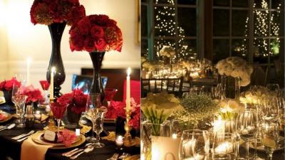 Trang trí tiệc cưới theo phong cách Giáng sinh
