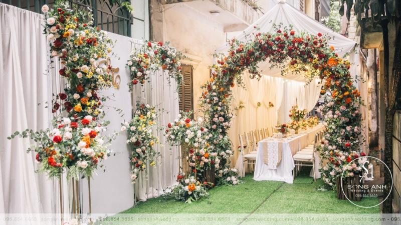 Mê mẩn với 4 mẫu thiết kế cổng hoa cưới  được yêu thích nhất