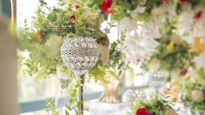 Phụ kiện trang trí tiệc cưới không thể bỏ lỡ mùa cưới 2019-2020