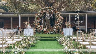 Trang trí tiệc cưới ngoài trời – Tổ chức tiệc cưới theo phong cách phương Tây