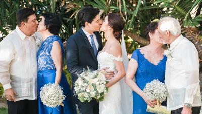 Hôn lễ xanh tươi mát của cặp đôi Philippines khiến chị em phải thích thú