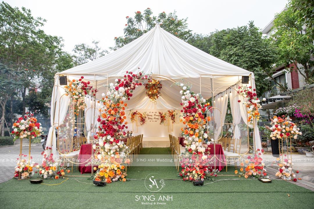 trang trí tiệc cưới song anh 1