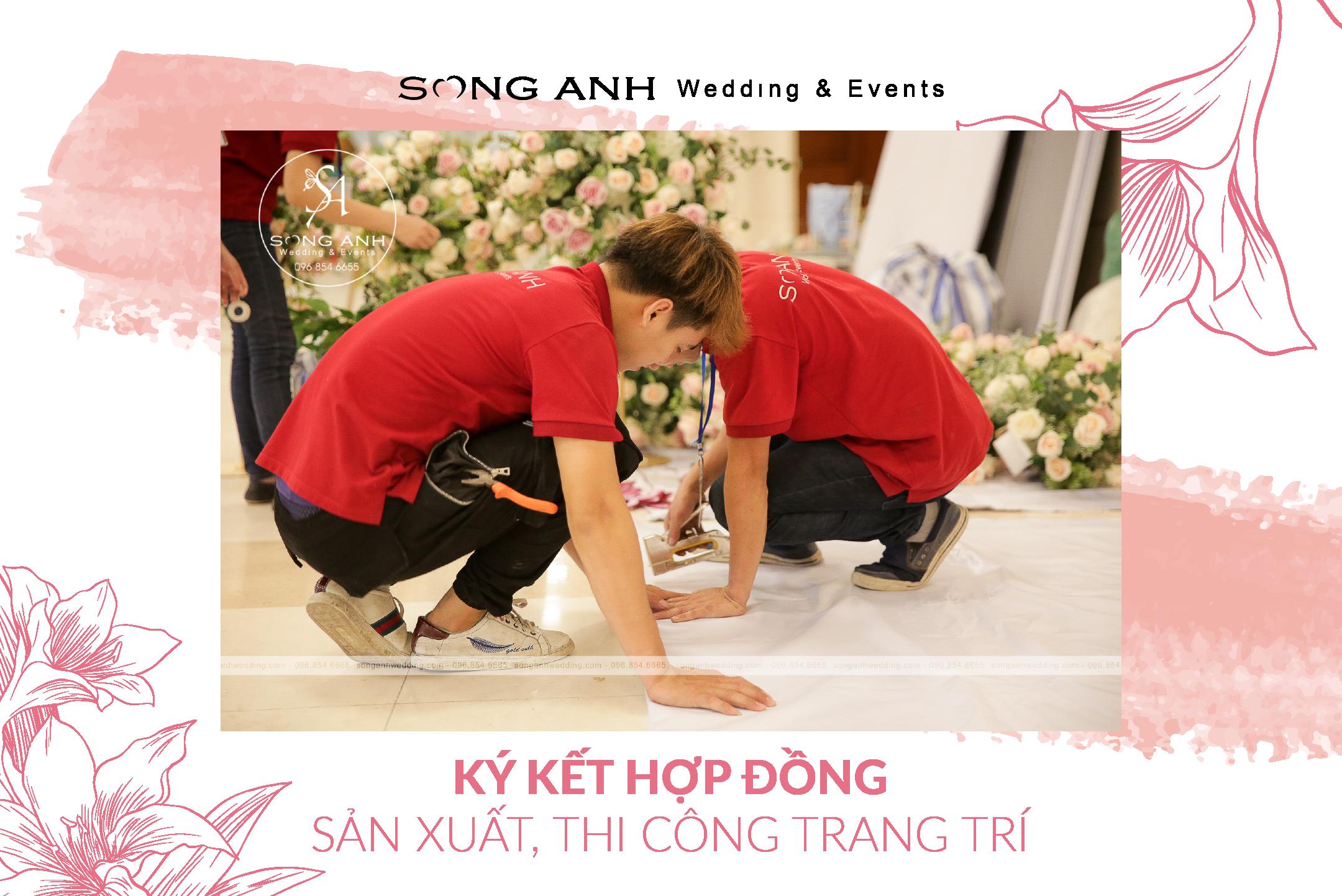 Sau khi đã ký kết hợp đồng với khách hàng, đội ngũ Song Anh bắt đầu quá trình lao động miệt mài để cho ra thành phẩm như ý