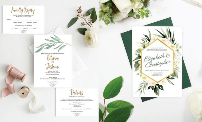 """Thiệp cưới """"greenery"""""""