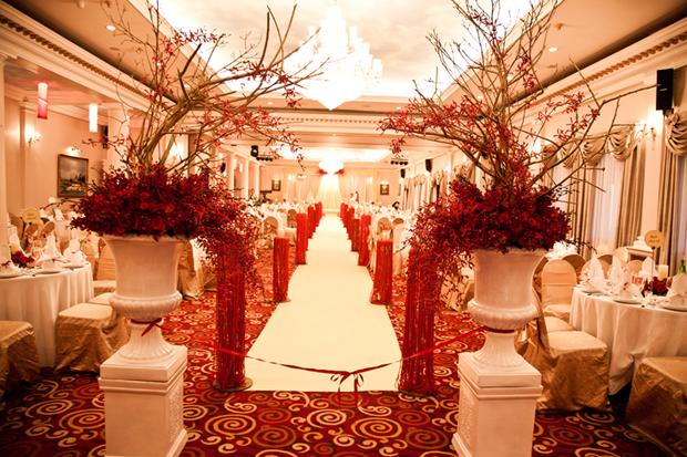 Không gian tiệc cưới hài hòa và ấm cúng