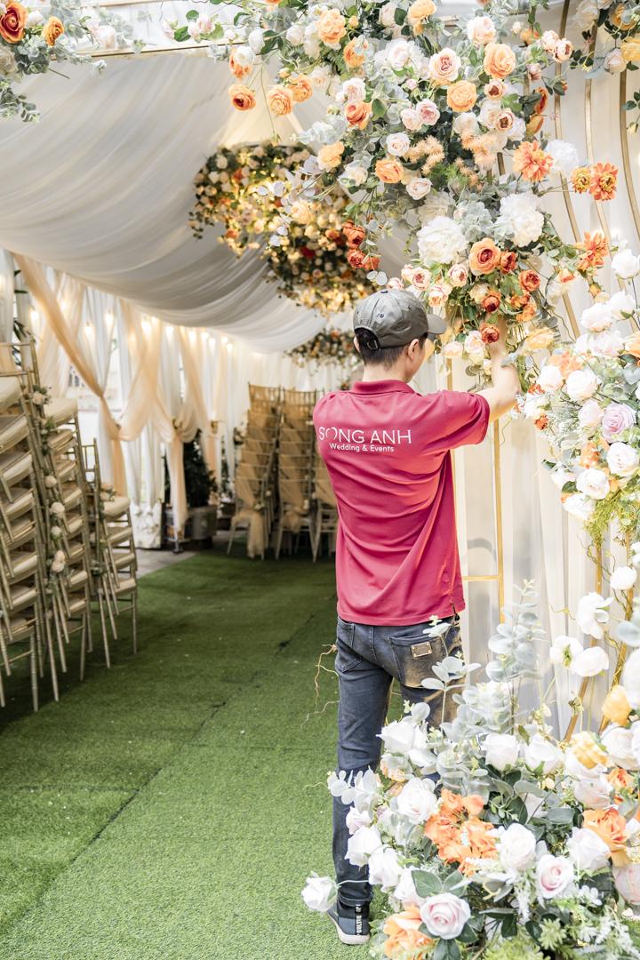 Trang trí tiệc cưới chung cư