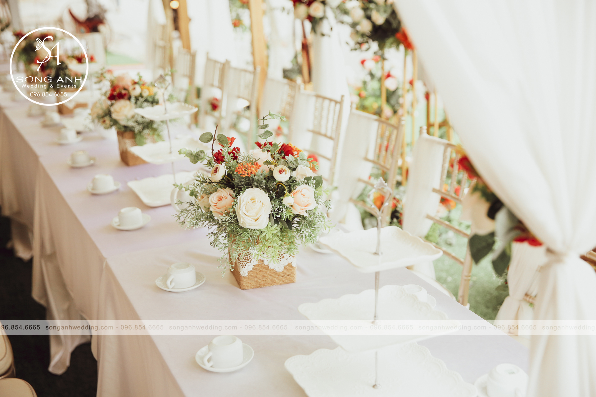 rạp đám cưới tư gia đẹp nhất năm 2020