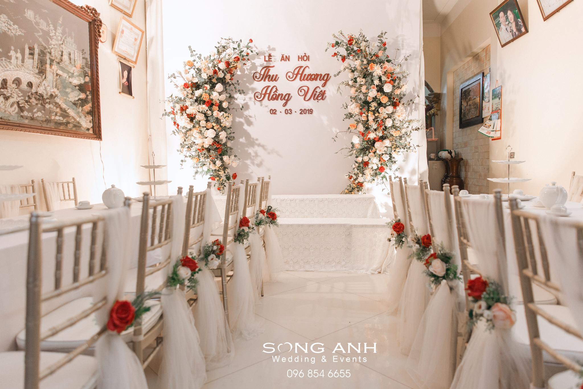 Backdrop đám cưới độc đáo