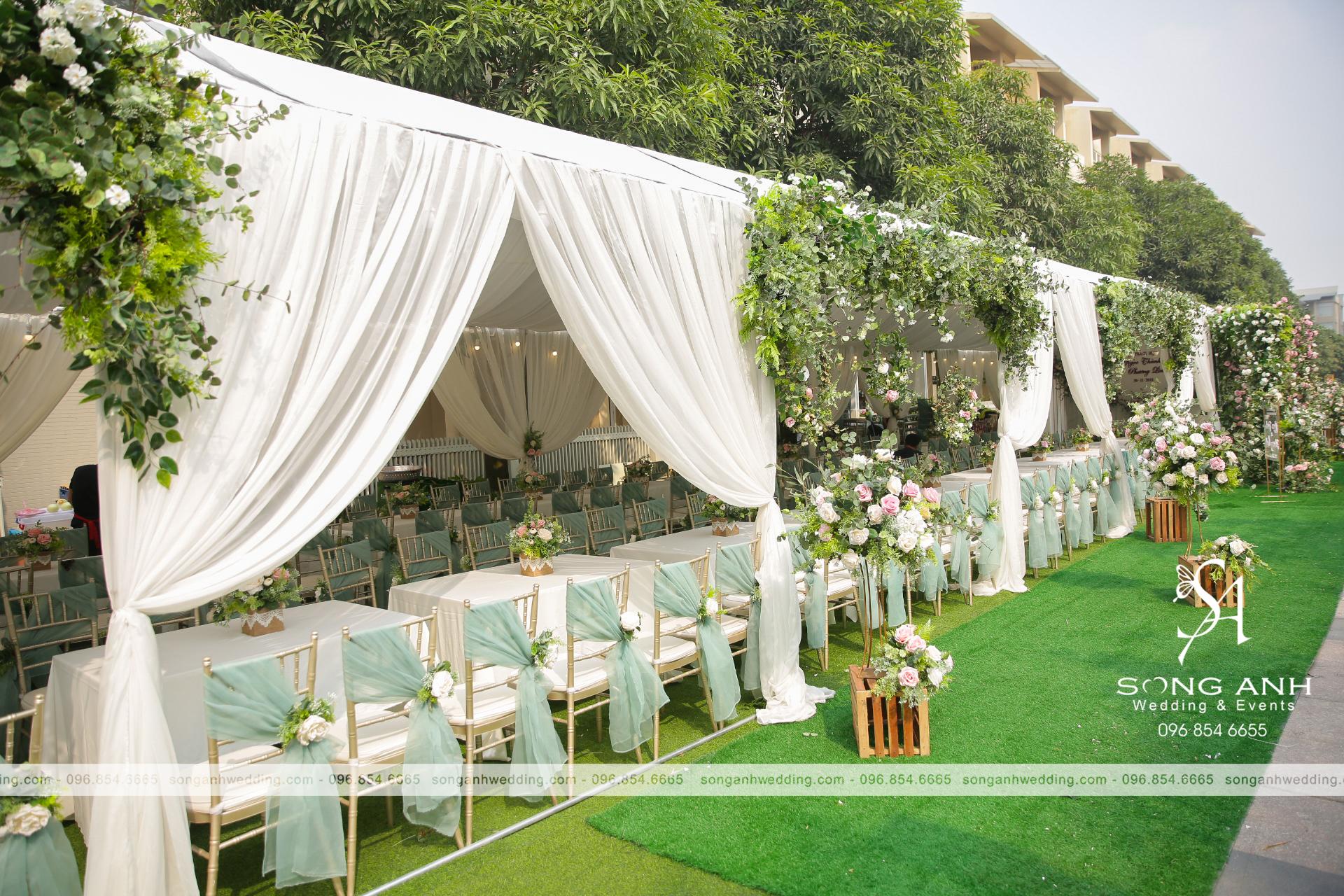 trang trí tiệc cưới theo phong thủy