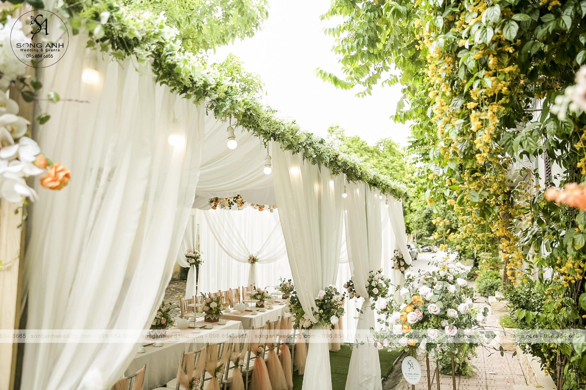 bước trang trí tiệc cưới