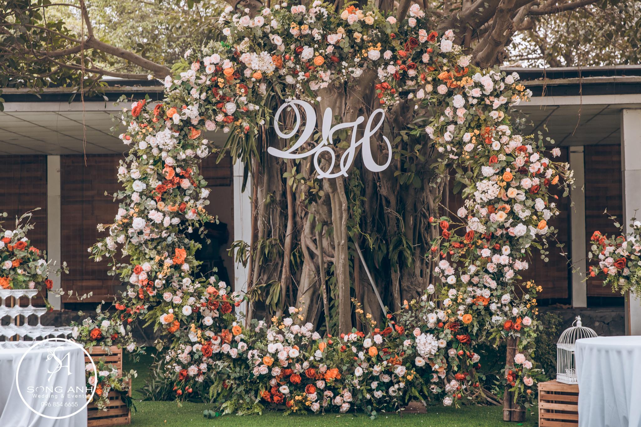 backdrop đam cưới độc đáo