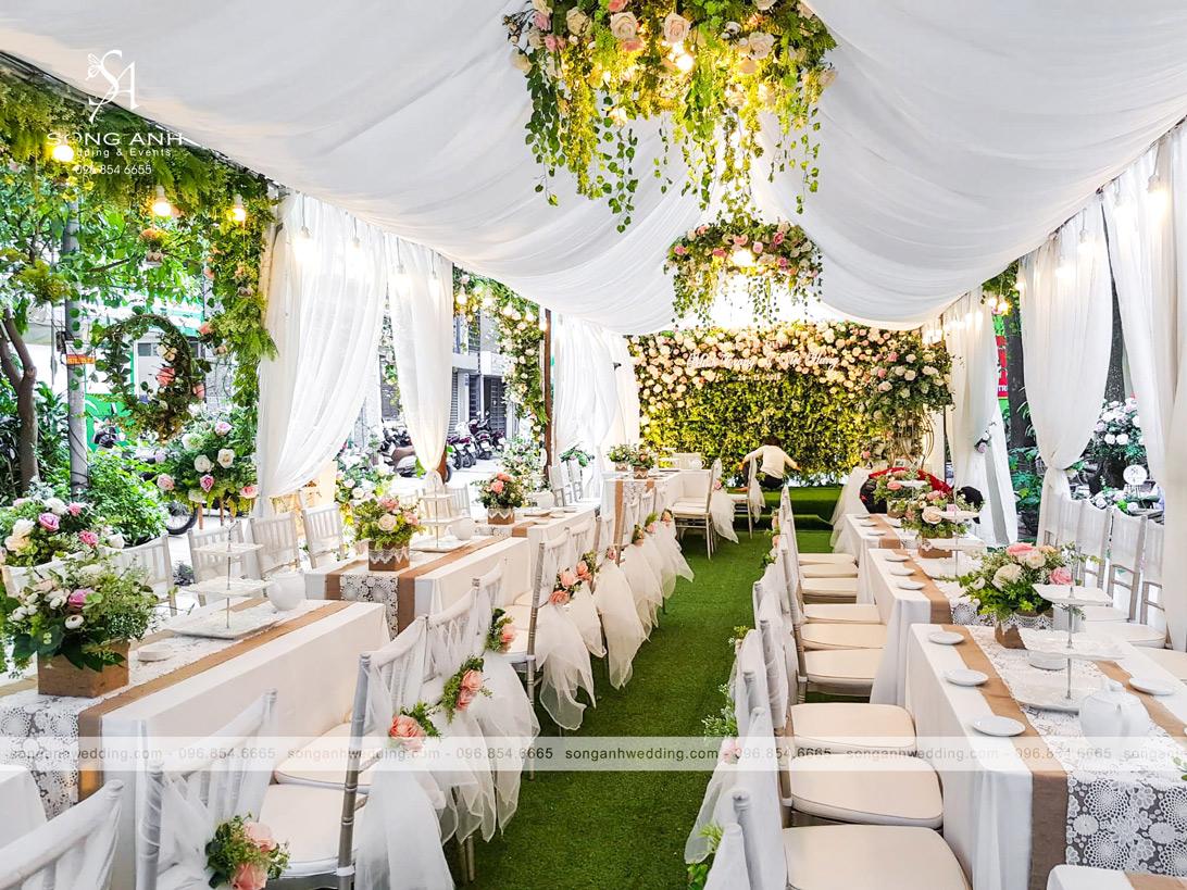 phong cách trang trí tiệc cưới