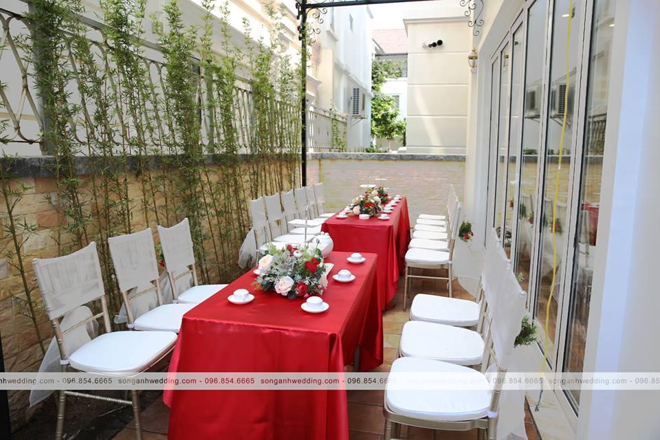 Trang trí tiệc cưới tại nhà