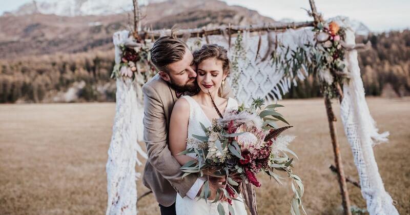 Phong cách trang trí tiệc cưới Bohemian