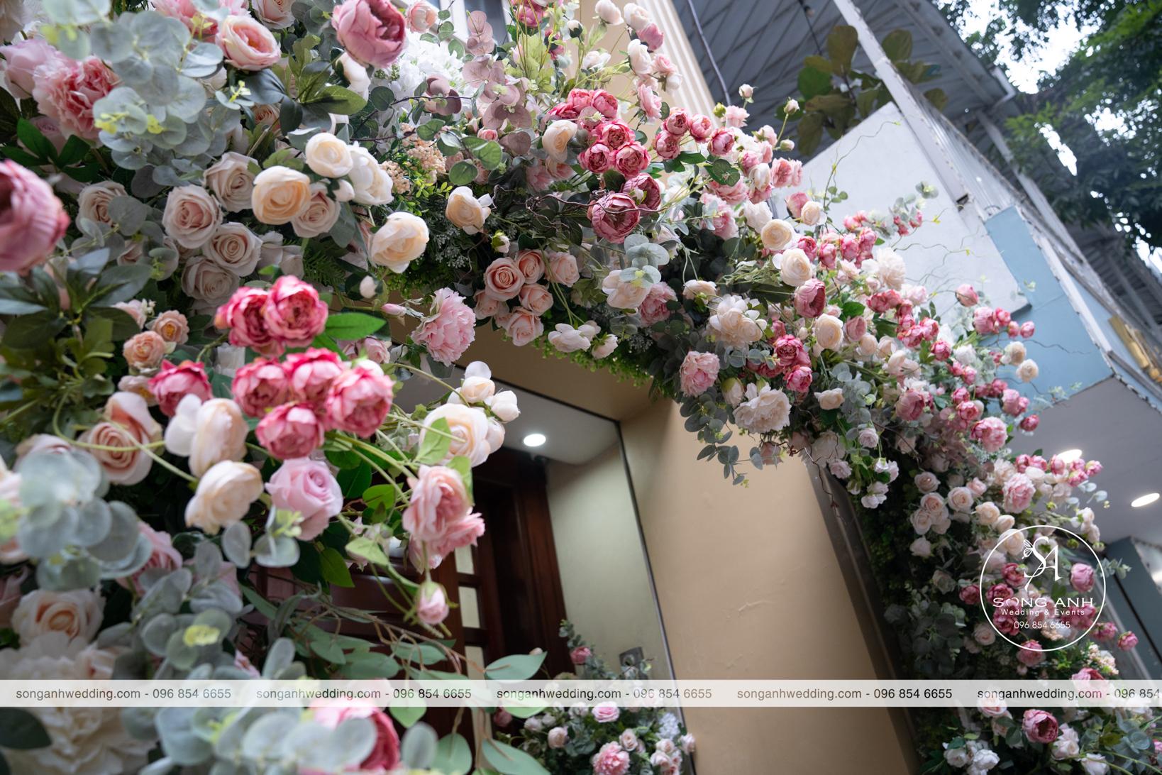 Hoa lụa hồng tím