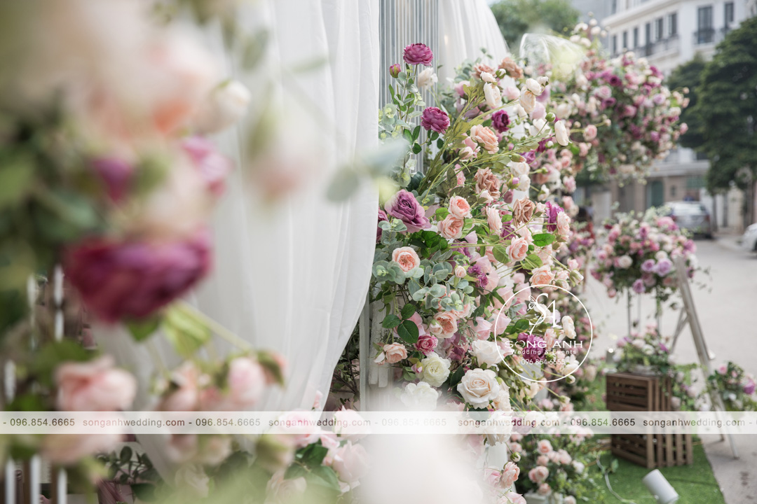 Hoa lụa tím