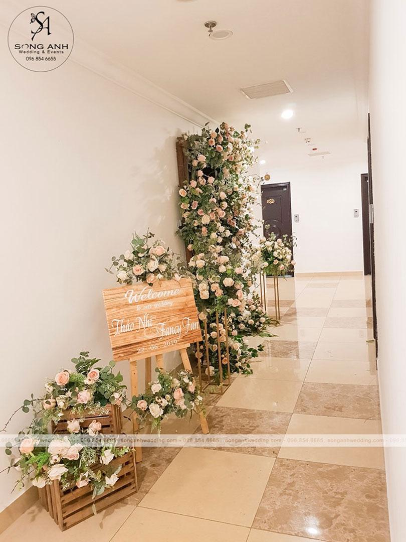 trang trí tiệc cưới tại chung cư
