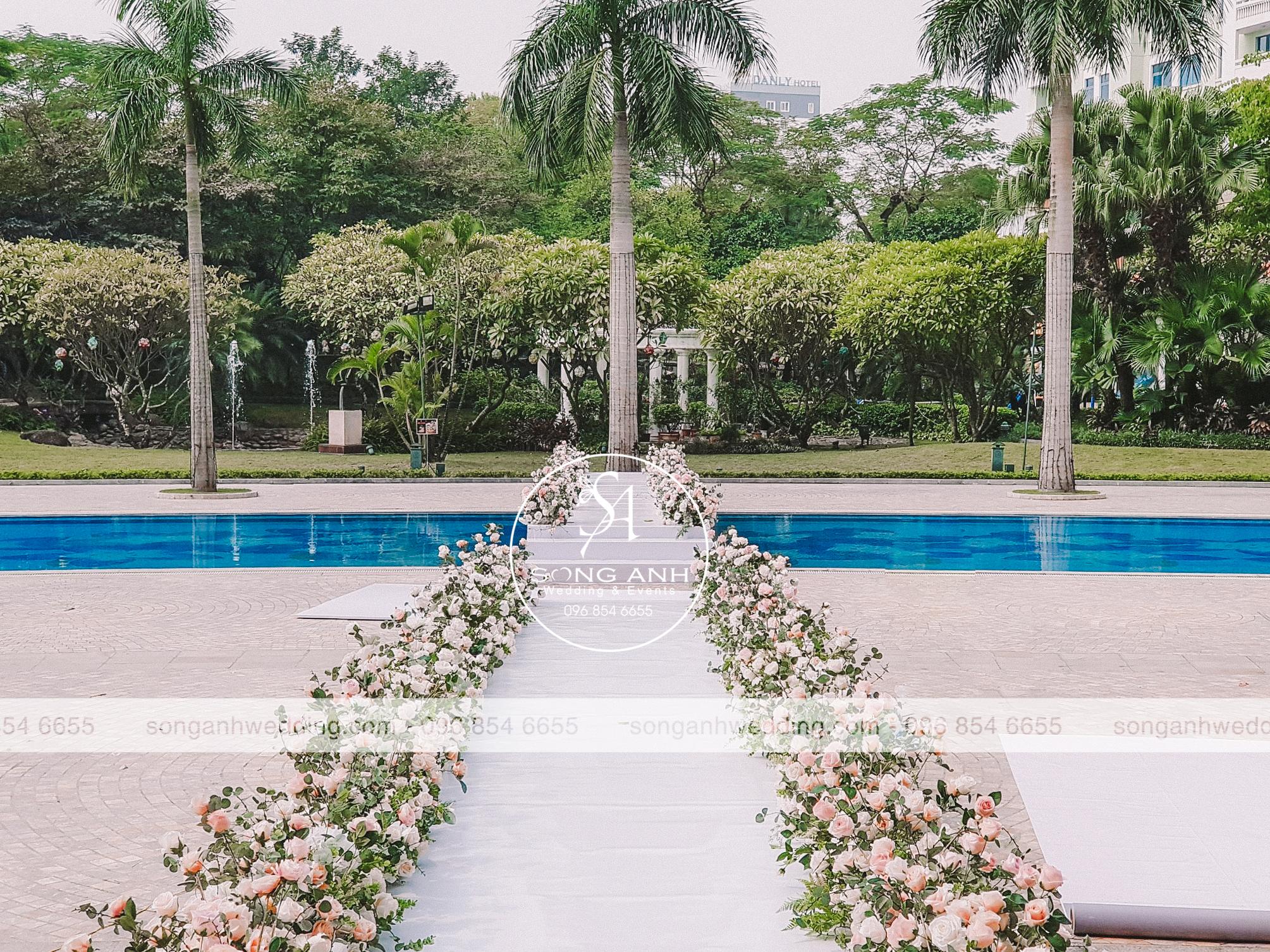 địa điểm trang trí tiệc cưới ngoài trời tại Hà Nội