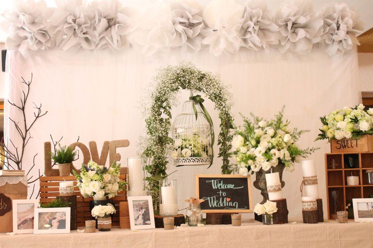 trang trí tiệc cưới vintage