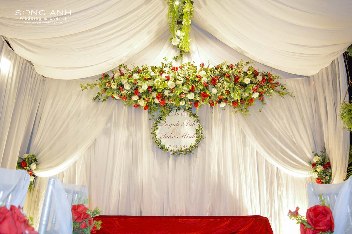 Trang trí tiệc cưới Song Anh