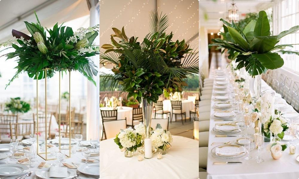 Trang trí tiệc cưới bằng hoa tươi đem đến sự tràn đầy sức sống nhưng theo thời gian sẽ nhanh héo và bay màu
